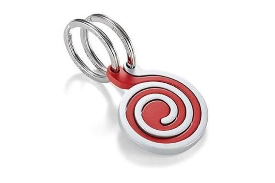 Brelok Snail, 2 szt, srebrny-czerwony