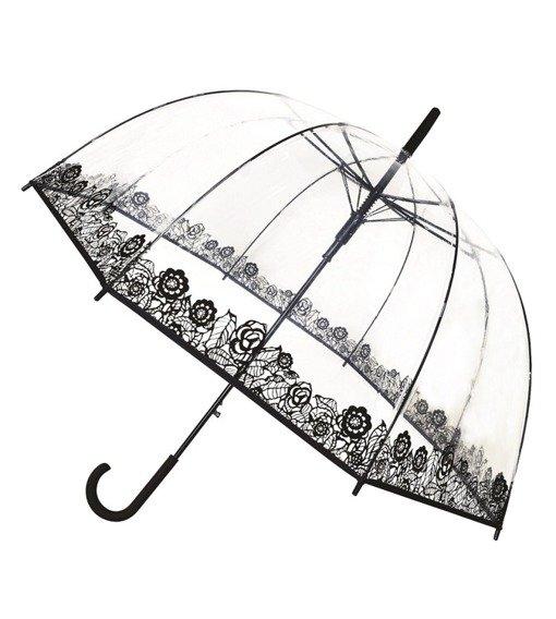 Długi parasol przezroczysta kopuła Dentelle Smati