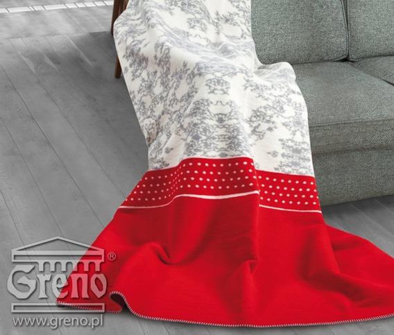 FLORENCE CZERWONY koc Glamour GRENO