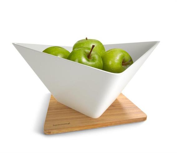 FM - Misa na owoce z podstawką, biala