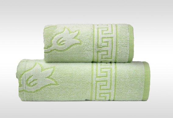 Flora 2 Zielony ręcznik bawełniany GRENO