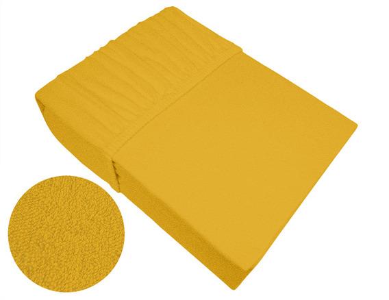 Prześcieradło frotte z gumką Bielbaw żółte