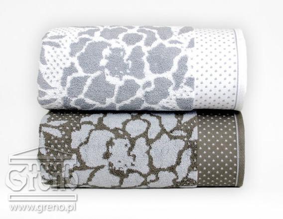 Ręcznik CODE Greno biało-popielaty
