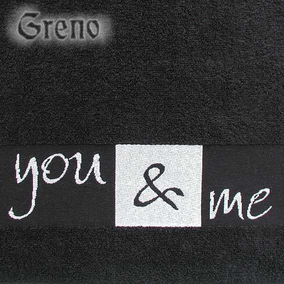Ręcznik YOU & ME Greno czarny