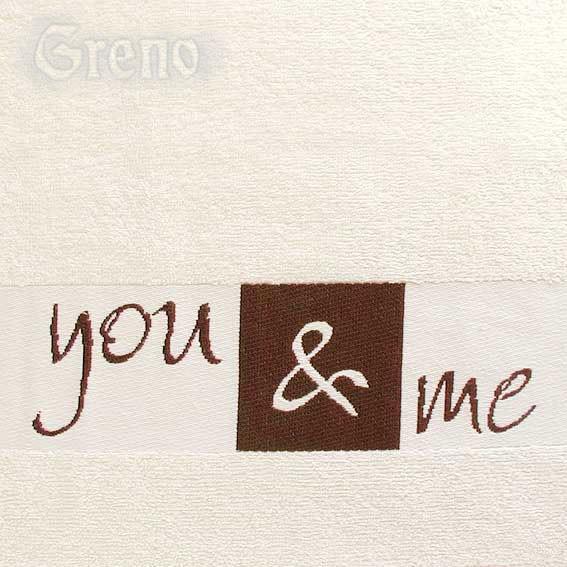 Ręcznik YOU & ME Greno kremowy