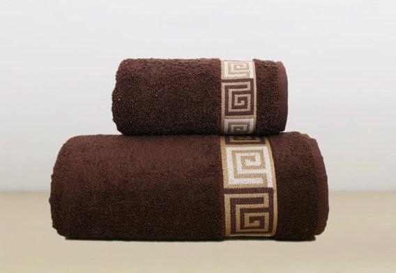 Ręcznik bawełniany DUNAJ Frotex brązowy