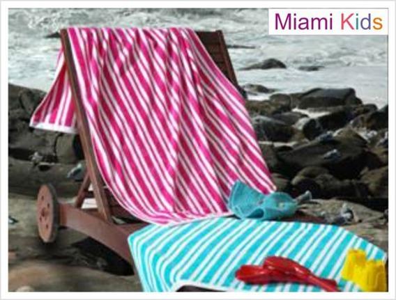 Ręcznik plażowy MIAMI KIDS, 2 kolory Greno niebieski