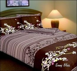SENNY BLUES Pościel satynowa Bielbaw