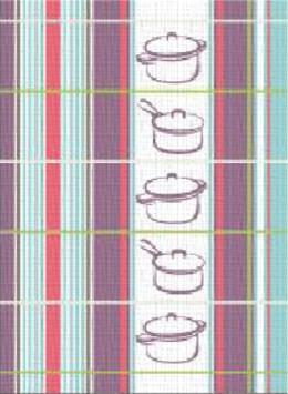 Ściereczka kuchenna RONDELKI Greno, 2 kolory niebieski
