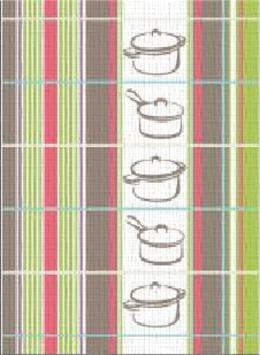 Ściereczka kuchenna RONDELKI Greno, 2 kolory zielony