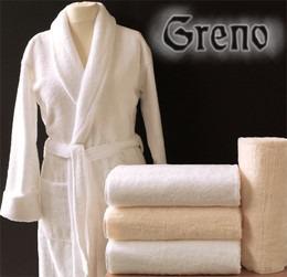 Szlafrok Silk Touch  Greno biały